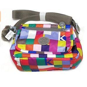 RARE NWT Kipling Multicolored Sabian Crossbody